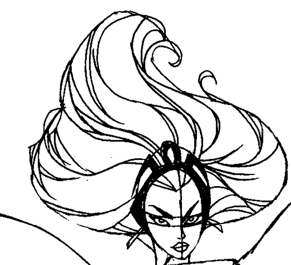 Step 8 : Drawing Storm from Marvel's X-Men Superhero Team Easy Steps Lesson