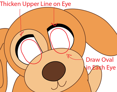 Step 9 : Drawing Baby Anime Puppy in Easy Steps Lesson