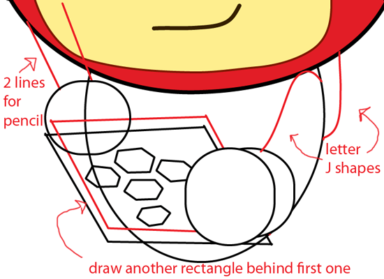 Step 9 : Drawing Max from Scribblenautsin Easy Steps Lesson