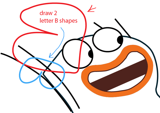 Step 9 : Drawing Milo from Disney's Fish Hooks Easy Steps Lesson