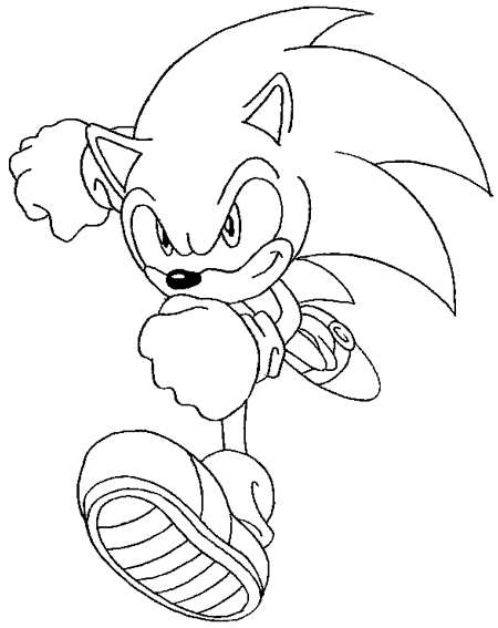 Step 10 : Drawing Sonic the Hedgehog in Easy Steps Lesson
