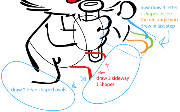 Step 10 : Drawing Papa Smurf from The Smurfs Easy Steps Lesson