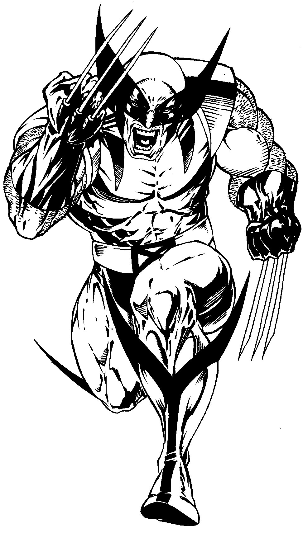 How to draw Wolverine from Marvel's X-Men Superhero Team with easy step by step drawing tutorial
