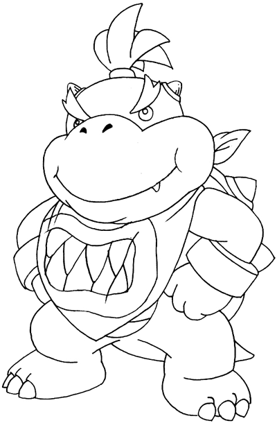 How To Draw Bowser Jr From Mario Kart Wii Step By Step Drawing Tutorial For Kids Page 2 Of 2 How To Draw Step