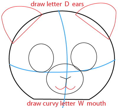 Step 3 : Drawing Cartoon Guinea Pigs in Easy Steps Lesson