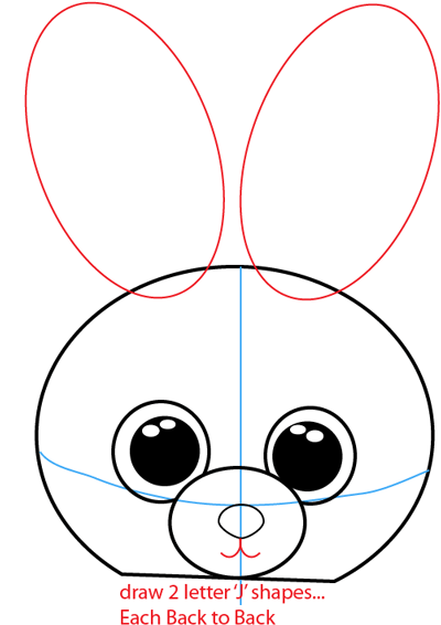 Step 4 : Drawing Cartoon Bunnies in Easy Steps Lesson