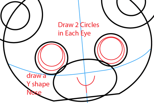 Step 4 : Drawing Cartoon Pandas in Easy Steps Lesson