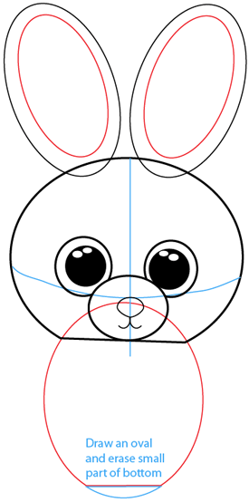 Step 5 : Drawing Cartoon Bunnies in Easy Steps Lesson