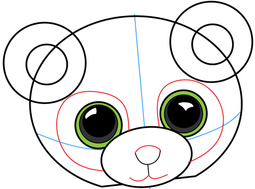 Step 5 : Drawing Cartoon Pandas in Easy Steps Lesson
