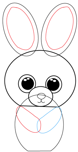 Step 6 : Drawing Cartoon Bunnies in Easy Steps Lesson