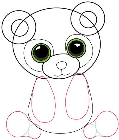 Step 7 : Drawing Cartoon Pandas in Easy Steps Lesson