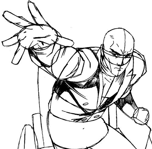 Step 9 : Drawing Professor X from Marvel's X-Men Superhero Team Easy Steps Lesson