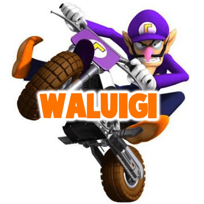 How to Draw Waluigi on a Motor Bike Motorcycle from Wii Mario Kart