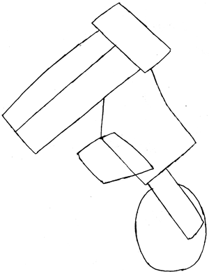 Step 3 : Drawing Waluigi on Motor Bike Lesson