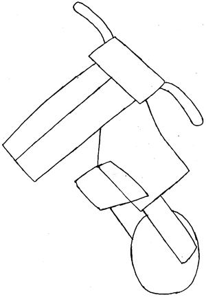 Step 4 : Drawing Waluigi on Motor Bike Lesson
