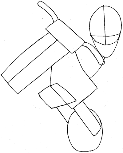 Step 5 : Drawing Waluigi on Motor Bike Lesson