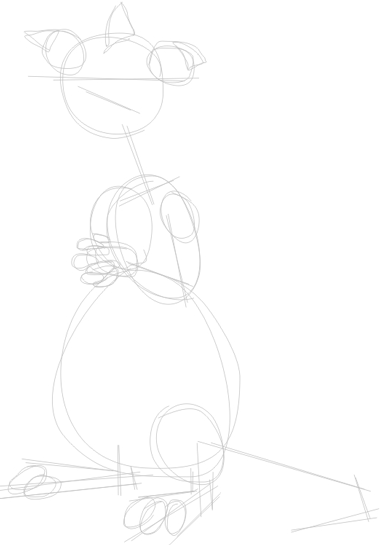 Step 1 : Drawing Freddy from Back at the Barnyard Easy Steps Lesson