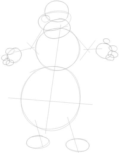 Step 1 : Drawing Duke from Back at the Barnyard Easy Steps Lesson