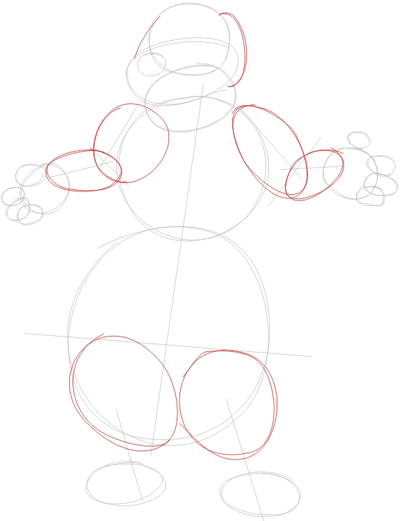 Step 2 : Drawing Duke from Back at the Barnyard Easy Steps Lesson
