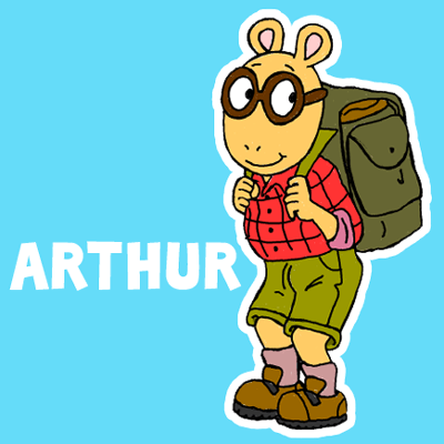 How to draw Arthur from PBS's Arthur with easy step by step drawing tutorial