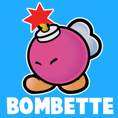 How To Draw Bombette From Nintendo S Super Mario Bros With Easy