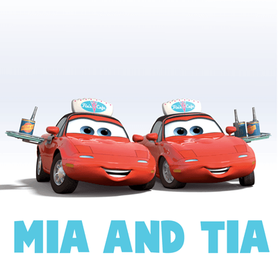 How to draw Mia and Tia from Pixar's Cars with easy step by step drawing tutorial