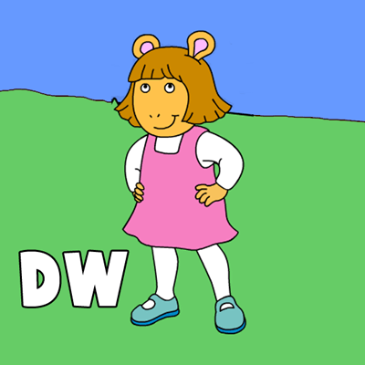 How to draw D.W. from PBS's Arthur with easy step by step drawing tutorial