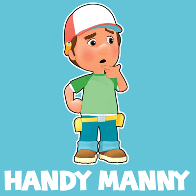 "How to Manuel ""Manny"" Garcia from Handy Manny with easy step by step drawing tutorial"