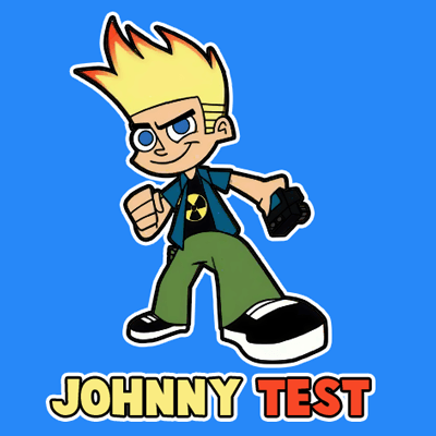 How to draw Johnny Test from Johnny Test with easy step by step drawing tutorial