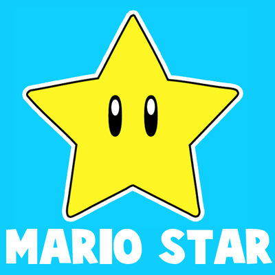 How To Draw The Star From Nintendo S Super Mario Bros With Easy
