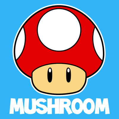 How To Draw The Mushroom From Nintendo S Super Mario Bros With