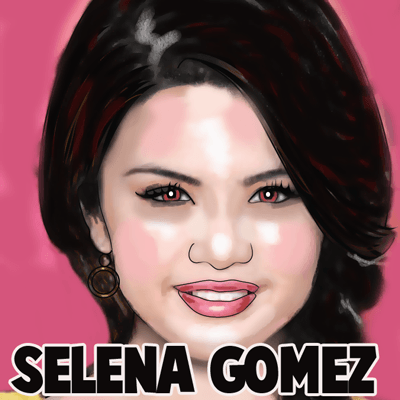 How to Selena Gomez from Wizards of Waverly Place with easy step by step drawing tutorial