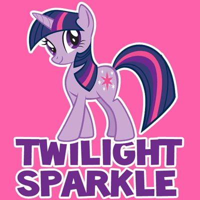 How to draw Twilight Sparkle from My Little Pony with easy step by step drawing tutorial