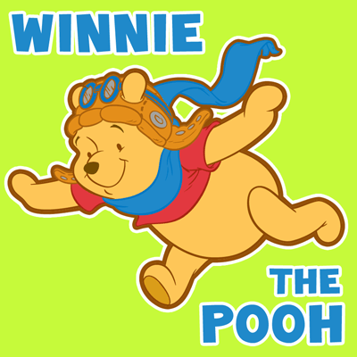 How to draw Pooh the Bear from Winnie the Pooh with easy step by step drawing tutorial