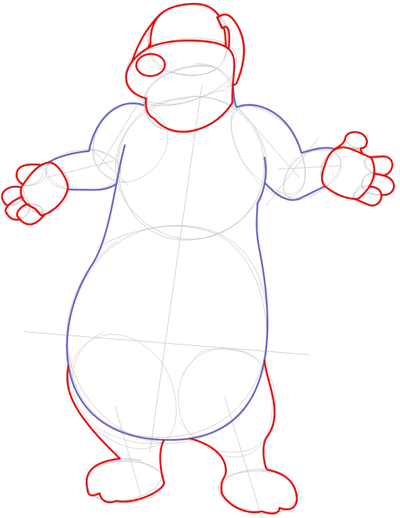 Step 4 : Drawing Duke from Back at the Barnyard Easy Steps Lesson