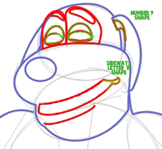 Step 6 : Drawing Duke from Back at the Barnyard Easy Steps Lesson