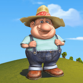 How to draw the Farmer from Back at the Barnyard with easy step by step drawing tutorial