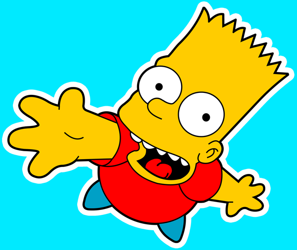 How to draw Bart Simpson Jumping from The Simpsons with easy step by step drawing tutorial