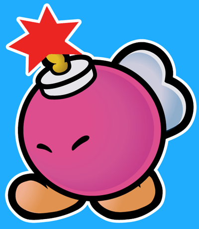 How to draw Bombette from Nintendo's Super Mario Bros. with easy step by step drawing tutorial