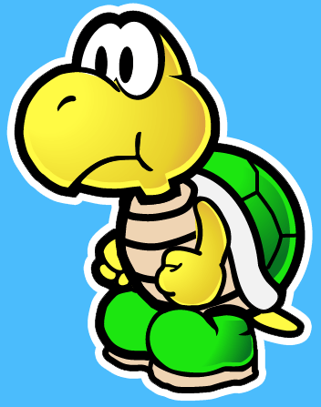 How to draw Koopa Troopa from Nintendo's Super Mario Bros. with easy step by step drawing tutorial