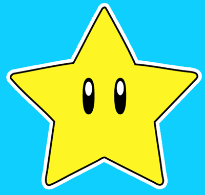 How to draw the Star from Nintendo's Super Mario Bros. with easy step by step drawing tutorial
