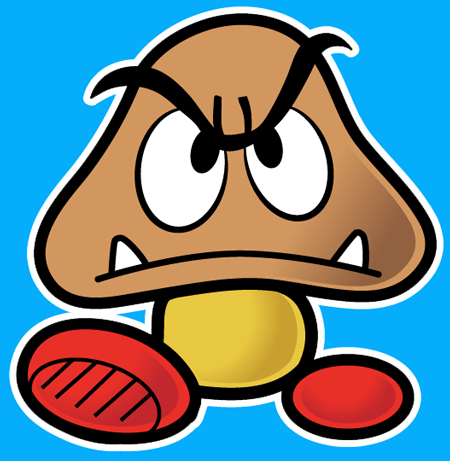 How to draw Goomba from Nintendo's Super Mario Bros. with easy step by step drawing tutorial