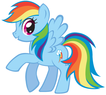 How to draw Rainbow Dash from My Little Pony with easy step by step drawing tutorial