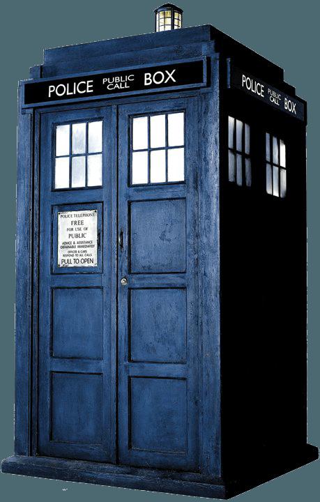 Dr Who Call Box Cake