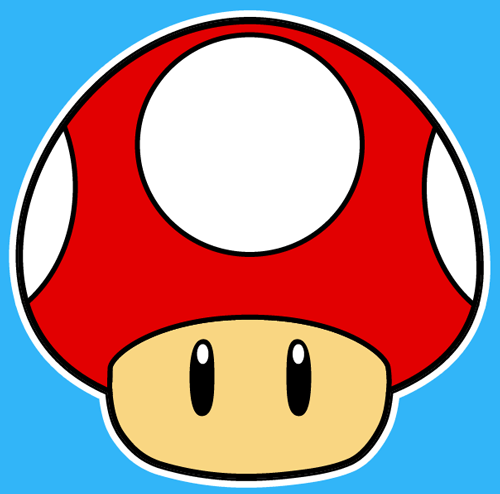 How to draw the Mushroom from Nintendo's Super Mario Bros with easy step by step drawing tutorial
