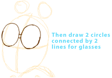 Step 2 : Drawing Arthur from PBS's Arthur Easy Steps Lesson