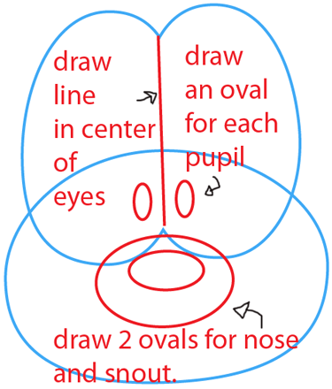Step 2 : Drawing Odie from The Garfield Show Easy Steps Lesson