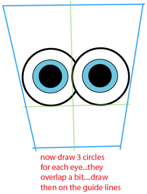 Step 2 : Drawing Baby SpongeBob SquarePants from SpongeBob SquarePants Easy Steps Lesson