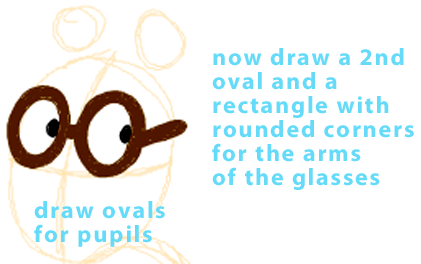 Step 3 : Drawing Arthur from PBS's Arthur Easy Steps Lesson