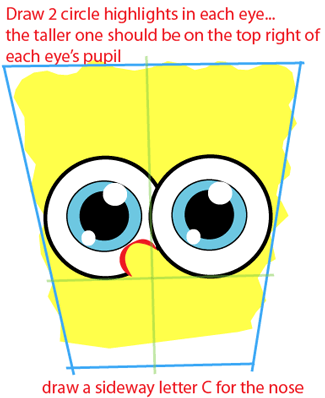 Step 3 : Drawing Baby SpongeBob SquarePants from SpongeBob SquarePants Easy Steps Lesson